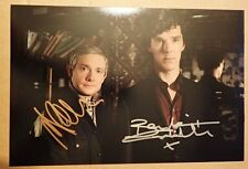 Sherlock Holmes Signed Photo Benedict Cumberbatch & Martin Freeman.
