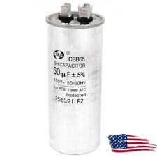 CBB65A-1 AC 450V 60uF 5% 50/60Hz Cylinder Polypropylene Film Motor Capacitor