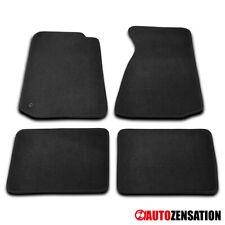 For 1994-2004 Ford Mustang Black Nylon Front+Rear Floor Mats Carpet 4PC