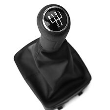 5 Speed Gear Shift Knob Cover Stick Lever Gaitor Boot For VW POLO Mk4 9N 9N2