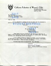 Rare 1967 BEWITCHED AWARD Letter Dick York Elizabeth Montgomery Agnes Moorehead