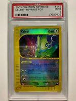 Pokemon PSA 9 MINT 2003 Skyridge Reverse Holo Crystal Celebi WOTC 145/144