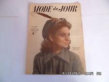 MODE DU JOUR N° 107 01/01/1948 TRICOT COUTURE FEMME ENFANT    I36