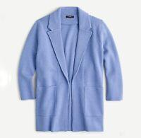 J Crew Women's Open Front Sweater Blazer Wool Blend Jacket