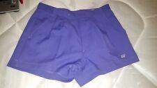 Womens 80s VTG TENNIS shorts Fancy dress Hen Retro Size UK 14 US 10 Purple YONEX