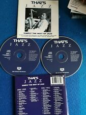 CD Album-THATS JAZZ Simply the best of jazz double album mint condition