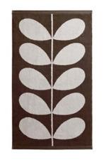 "NWT Orla Kiely House Stem Jacquard Nutmeg Cream Bath Towel 28 x 50"" Brown White"