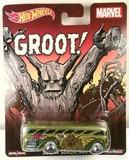 Hot Wheels 1:64 Pop Culture Marvel Groot Surfin School Bus