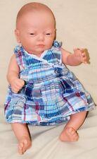 Berjusa Newborn 20in Anatomically Correct Baby Girl Doll Maria w/Bath Seat, Etc.