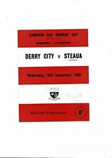 Derry City v Steaua European Cup Winners Cup Football Programme 1964/65
