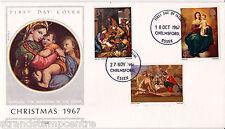 1967 Natale-DATATE-OTT + NOV NUMERO DOPPIO-Chelmsford IED