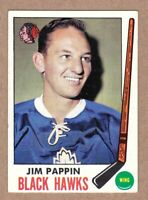 1969-70 Topps #73 Jim Pappin Chicago Black Hawks Near Mint NM condition