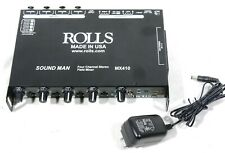 ROLLS MX410 4 Channel Stereo Audio Field Mixer - ENG XLR I/O, Aux In, Headphone