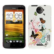 Hardcase Butterfly Pattern für HTC One X Schmetterlinge bunt Hülle Etui Case