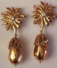 YVES SAINT LAURENT Ohrringe Designer AUBERGINE Klips Earring Boucle d oreille