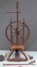 Antique 18th Century American Silk Finest Spinning Wheel FLAX RARE Important