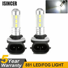 2x White 2323 SMD 881 LED High Power Fog Driving Light Bulbs 12V-24V 12000LM