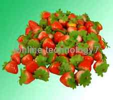 100 pcs fake mini strawberry artificial fruit house decor