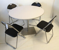 pedestal bistro cafe meeting canteen office banquet dining round table chairs wh
