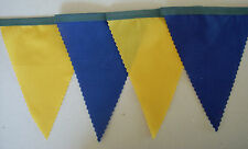 BRAZIL FOOTBALL BUNTING YELLOW & BLUE WITH GREEN TAPE FABRIC FLAGS 2mt OR MORE