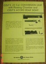 Colt .22 LR Conversion Kit Manual Gov & Super 38