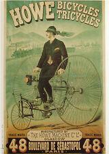 AFFICHE POSTER CARTONNE PARIS FRANCE SPORT BICYCLETTE BICYCLE VELO COURSE