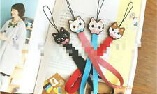Sweet Cat Kitten phone strap charm iphone Uk seller decorate kid cute