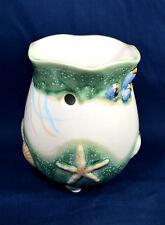 "Candle Tart Burner ""Emerald Ocean"" Tropical,Seashells candle accessory"