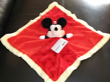 """BABY PERSONALIZED  MICKEY  MOUSE SECURITY BLANKET BRAND NEW """"GREAT GIFT"""""""