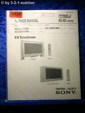 Sony Service Manual KD 32DX100U /32NS100B /32NX100U Color TV (#4834)