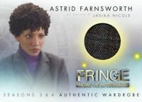 Fringe Seasons 3 & 4 Jasika Nicole Astrid Farnsworth Wardrobe Costume Card M3