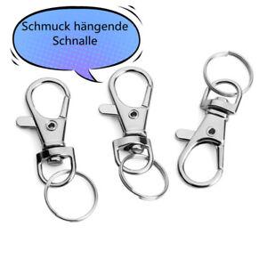 Drehbare Abzugshaken-Schlüsselschnalle mit kleiner Kreisfederschnalle