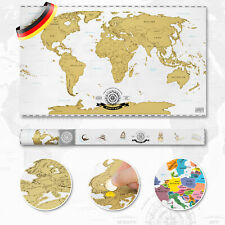 Rubbel Weltkarte Scratch Off World Map Poster XXL Landkarte zum Rubbeln 82x45cm