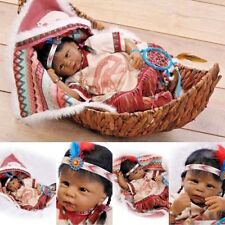 Reborn American Indian Baby Dolls Lifelike Realistic Doll Toys Babies Bebe Gifts