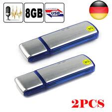 2PCS 8GB Mini Digital Diktiergerät Aufnahmegerät Audio Voice Recorder USB Stick
