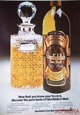 1975 GLENFIDDICH Pure Malt Scotch Whisky Advert #1 - Original Print AD