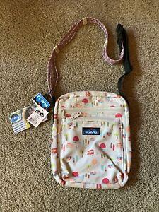 KAVU Zippit Crossbody Purse Pineapple Passion Adjustable Rope Strap Travel Bag