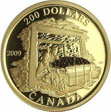 Kanada Gold 200 Dollars Kohlebergbau 2009 Polierte Platte Goldmünze im Etui