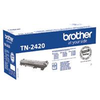 1 x Brother Original OEM Black Laser Toner Cartridge TN2420 - 3000 Pages