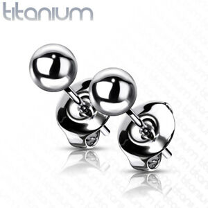 Implant Grade Titanium Ball Stud Earrings