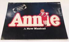 Vintage Broadway Program ANNIE A New Musical Anniversary Edition Allison Smith