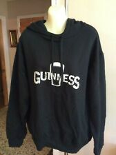 Official Guinness Merchandise Black Long Sleeve Hoodie Sweatshirt Large Unisex