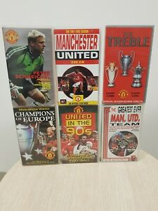 Collection of 6x Manchester United Collectable VHS tapes