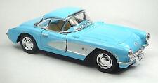 1957 Chevrolet Corvette C1 hellblau/weiß Sammlermodell 1:34 von KINSMART Neuware