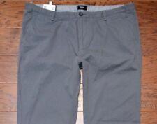 Hugo Boss Men's Rice Slim Fit Medium Gray Casual Chino Cotton Pants New 40R 56