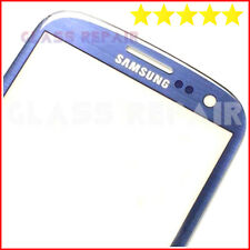 VETRO Ricambio BLU BLUE ORIGINAL BIADESIVO 3M SAMSUNG GALAXY S3 I9300 I9301I Neo