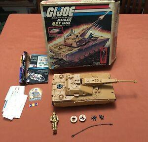 G.I. Joe - Mauler M.B.T. Tank - working - w/ box,  but missing driver & antenna