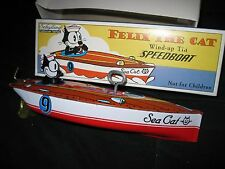 FELIX THE CAT SCHYLLING TIN WIND UP MOTORBOAT