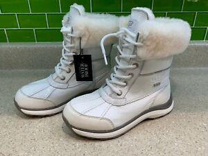 UGG Adirondack III Patent Snow Winter White Boots women's size 5 1098532