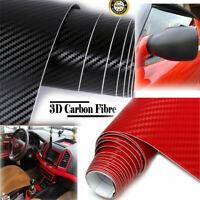 3D Carbon Fiber Texture Matte Black Red Vinyl Car Wrap Sticker Decal Film Sheet